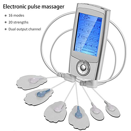 Inshias Electroestimulador Digital Masaje Portatil Recargable Masajeador Electro para Alivio del Dolor...
