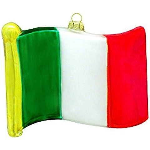 Italia Bandiera ornamento in vetro