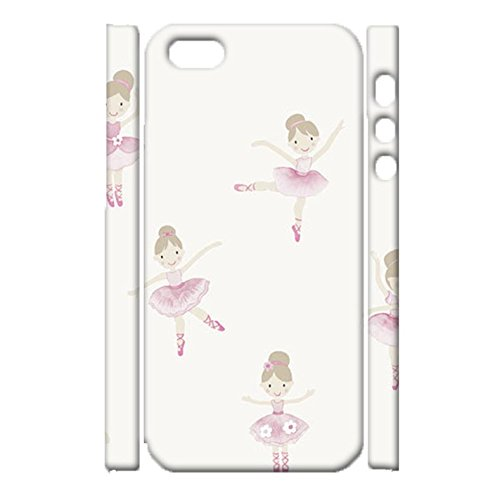 iPhone 5/5s/SE Cover Shell,Awesome Perfect Ballet Girl Print Image Printed Shell 3D Hard Plastic Cover for iPhone 5/5s/SE Phone Case
