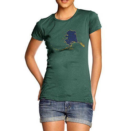 TWISTED ENVY Damen T-Shirt Gr. X-Large, Grün - Bottle Green (Green Anchorage)