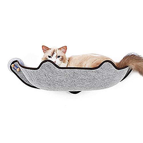 Cat Hammock, Fenstermontiertes Bett Mit Saugnäpfen, Cat Window Barch-Hängesitzliege, Kann An Fast Jeder Verglasung Oder Tür Montiert Werden,Gray -