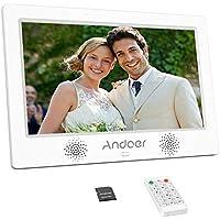 Andoer 10.1 pollici Cornice digitale 1024 * 600 risoluzione TFT-LED schermo con 8GB Scheda di memoria cornice foto digitale Telecomando Calendario Sveglia Music Video