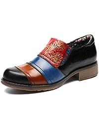 Mocasines de Mujer gracosy Zapatos de Cuero Blandos Mary Jane Hecho a Mano Tacón Alto Suela