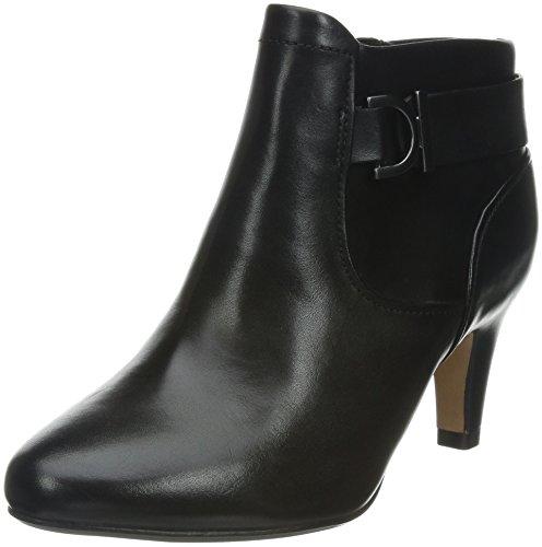 Clarks Lily Belle, Boots femme Noir (Black Leather)