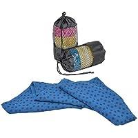 VORCOOL Toalla de Yoga Toalla de Yoga Toalla de Yoga Antideslizante Suave Toalla de Deporte Manta de Pilates con Bolsa Gratis (Azul)