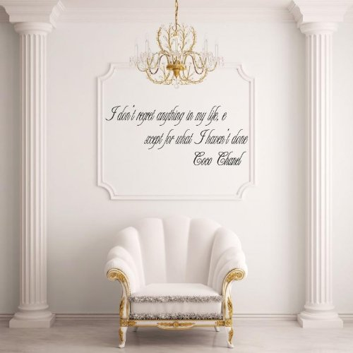coco-chanel-i-dont-regret-the-things-ive-done-wandtattoos-vinyl-wall-stickers-decals