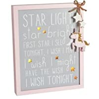 Amaal Trading Pink LED Unicorn sign - Light-up Girls Girl Bedroom Wooden Plaque