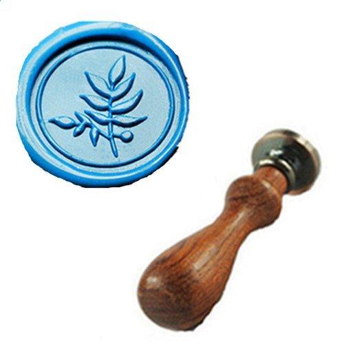 Blatt Wachs-siegel (MDLG Vintage Fine leaf Custom Picture Logo Wedding Invitation Wax Seal Sealing Stamp Rosewood Handle Set by MDLG)