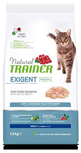 Trainer Natural Cat Exigent Adult con Carni Bianche 1.5 kg X 6-9000 Gr