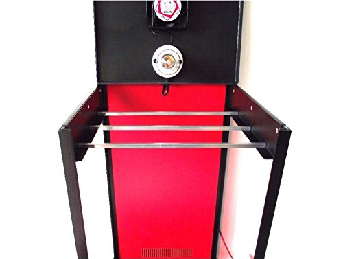 417HX4BbETL - Biltong Maker Biltong Box Beef Jerky Dehydrator Biltong Spice with RED Back Panel, 100g FREE SPICE and Light Bulb