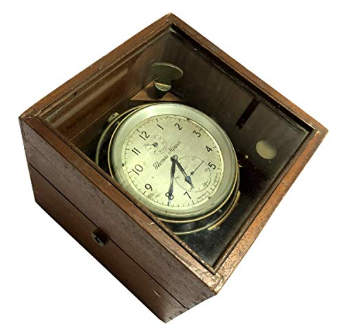 Antiques World Made in England Albans Original 1940s Collector\'s Piece Maritime Vintage Thomas Mercer Ltd. Marine Chronometer AWUSAWC 050