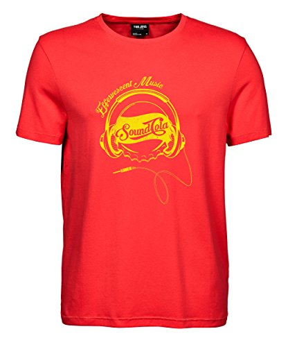 makato Herren T-Shirt Luxury Tee Sound Cola Coral