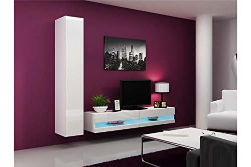 Ensemble Meuble tv design VALERIA - blanc