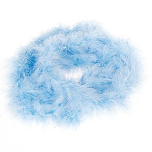 JXY Dekoration handwerkliche lanuginosa der Boa der hellblau der Federn von 2Meter lang (Schwerpunkt Kostüm)