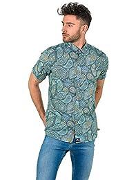 5fe89307d6 DIVARO - Camisa Estampado Cachemir Manga Corta - Disponible EN Color  Turquesa - para Hombre