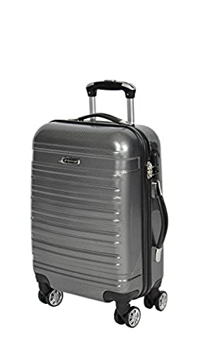 Hard Shell Expandable Four Wheel Suitcase Travel Luggage Lightweight Spinner Bag Ibiza (CABIN 22