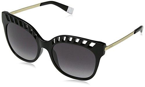 Furla eyewear, occhiali da sole donna, nero (shiny black), 55