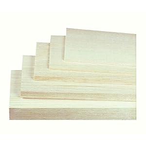Jamara 231014- Tablas Madera de balsa de 4 x 100 x 1000 mm