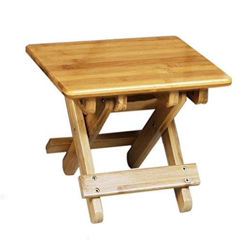 LQQGXL Europäischer Stuhl Kleiner Hocker Klappbarer Hocker für Kinder Portable Outdoor Mazar Fishing Chair Square Hocker (Farbe : 25 * 28.5 * 26cm) (Hocker-bar Bambus Natur)