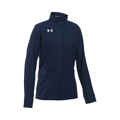 Under Armour Mädchen UA Pregame Woven Warm Up Jacke, Mädchen, Midnight Navy/White Woven Warm Up Jacket