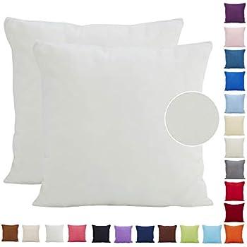 9a58b48627 Comoco® - 2 copricuscini leggeri in tinta unita, in similpelle scamosciata,  decorazione per casa e divano, disponibili in 21 colori e 7 misure,  Poliestere, ...