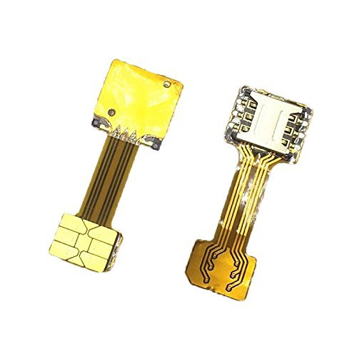 Bliss Shield BS 001 Dual SIM Card Micro SD Extender Adapter With Sim Ejector Pin For Android Devices (Gold)