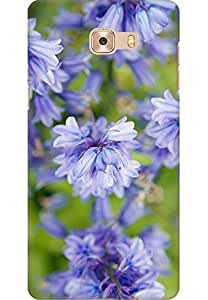 AMEZ designer printed 3d premium high quality back case cover printed hard case cover for Samsung C9 Pro (purple flowers nature )