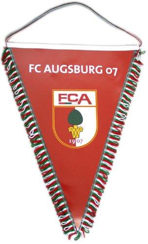 2 FC Augsburg Wimpel Rot FCA m Autosauger Fussball Bundesliga Fan Artikel