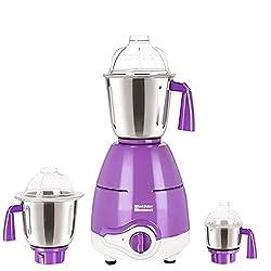 SilentPowerSunmeet Purple Color 600Watts Mixer Juicer Grinder with 3 Jar ( 1 Large Jar, 1 Medium Jar and 1 Chuntey Jar)