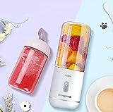 ERKEJI Mini licuadora recargable portátil del Juicer del USB con 6 cuchillas 350ml perfecto para los alimentos de bebé del batido de leche de la fruta
