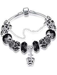 """Young & Forever """"Allure Collection"""" Sterling Silver Plated Pandora Inspired Bracelets Charms DIY Bracelet. Daily..."""