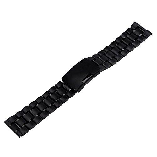 24 mm Cinturino Per Orologio Da Polso Uomo Acciaio Inox Colore Nero...