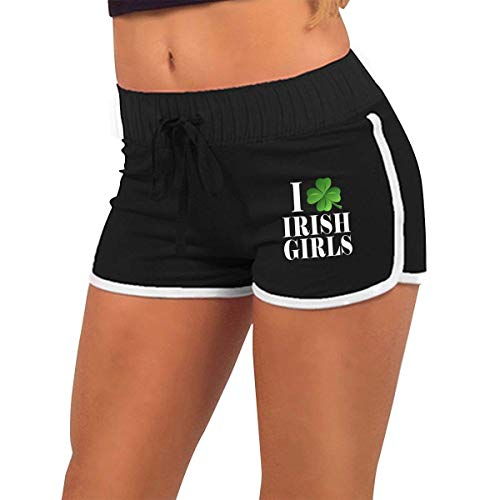 I Shamrock Heart Irish Girls St Pattys Days Women's Sexy Shorts Fashion Beach Hot Shorts S (Sexy Irish Girl Kostüm)