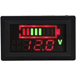 XCSOURCE DC 12V 24V 36V 48V 60V 72V 96V voltmètre testeur d'affichage indicateur de capacité Batterie d'acide de Plomb (par défaut 12V) MA395