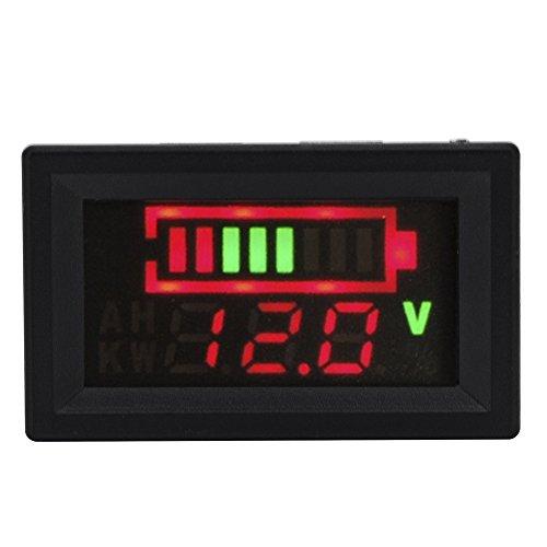 XCSOURCE CC 12V 24V 36V 48V 60V 72V Acido 96V indicatore Principale Capacita della Batteria Display del Tester del voltmetro (Default 12V) MA395