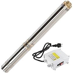 Pompe Immergée pour Puits Profonds | 1300W, Diamètre 4 pouces, en acier inoxydable, Débit max env. 4500 l/h | Pompe Immergée de Forage