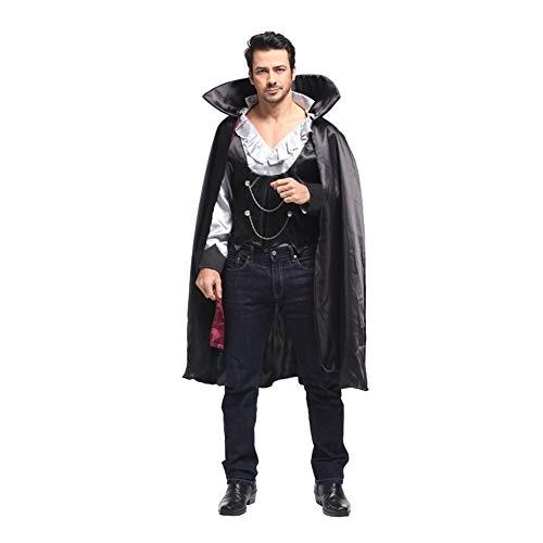 Samurai Kostüm Hunde - NCTM Kostüm Mantel Antike GRAF Anzug Vampir für Männer Party Cosplay Bühnenshow