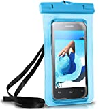 ONEFLOW Wasserdichte Hülle für Huawei | Full Cover in Blau 360° Unterwasser-Gehäuse Touch Schutzhülle Water-Proof Handy-Hülle für Huawei Y Reihe Y3 Y5 Y6 Y7 Y9 Y550 Y625 UVM Case Handy-Schutz