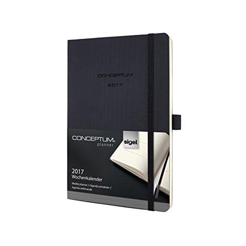 Sigel Conceptum C1722 - Agenda settimanale con copertina morbida, edizione 2017 Circa a5 nero