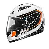 ZXW Motorradhelm Männer Und Frauen Vier Jahreszeiten Vollgesicht Helm HD Anti-fog Warme Helm (Farbe : White yellow flower, größe : 31x27cm)