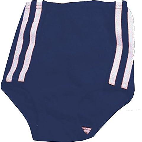 Calcio, Rugby, Multi Sport Athletic righe Slip adulti abbigliamento sportivo pantaloncini, Navy White, 34