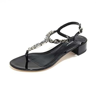 3570L sandali infradito neri DOLCE&GABBANA D&G scarpe shoes women [36.5]
