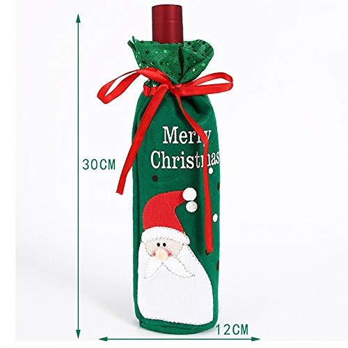 ion Weihnachten Weihnachtsschmuck Santa Wein Flasche Set Rotwein Set Family Hotels Party Tisch Decora Tion ()