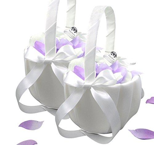 2x Streukörbchen Hochzeit EinsSein® Julia Blumenkinder Hochzeit Blumenkorb Blumenkörbe Blumenmädchen Blumendeko basket girl flower