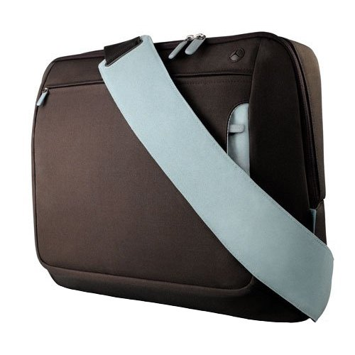 Belkin Messenger Bag Kuriertasche (Umhängetasche für Notebooks bis zu 43,2 cm (17 Zoll)) schokolade/turmalin Preis