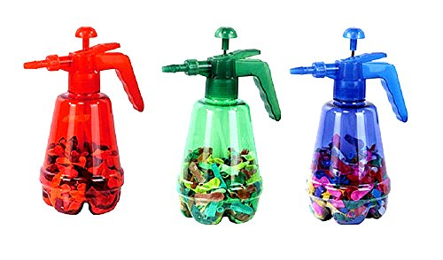 Uniware 1.5 Liter Pumper Air Pressure Sprayer With 100 Balloons For Kids (Colors May Vary)
