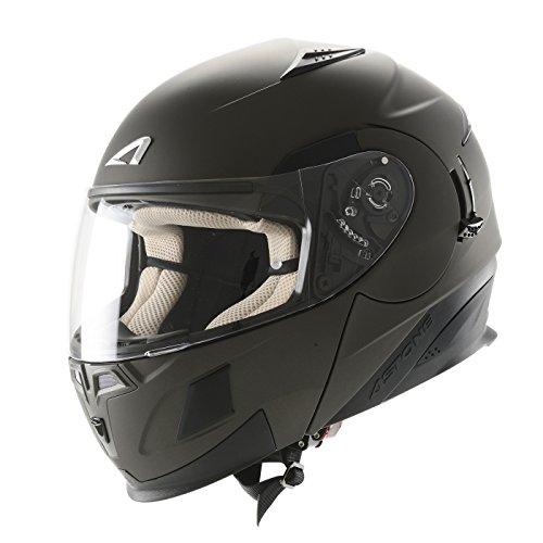 Astone Helmets,Casco, color Gris (Gun Metal Matt), talla XS