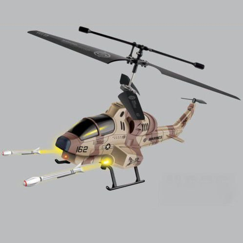 Mini-RC-Helikopter Heli Hubschrauber Drohne Cobra AH-1 Rakete Missile 3D LED MH4-FBA