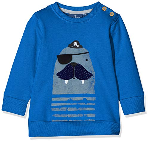 TOM TAILOR Kids Baby-Jungen Placed Print Sweatshirt, Blau (Nautical Blue 3009), Herstellergröße: 80