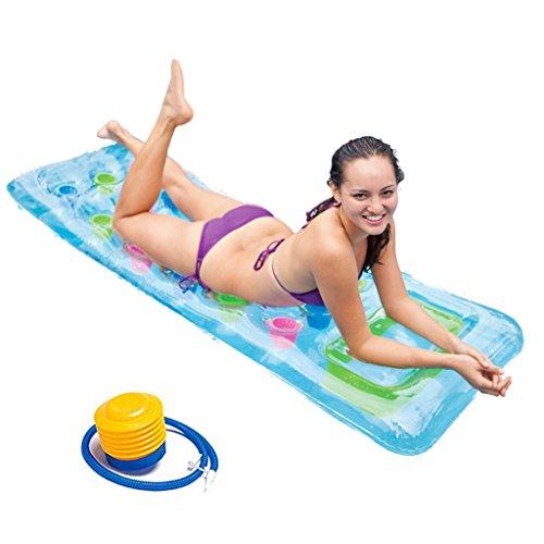 CHENGYI Schwimmendes Bett, Art- und Weisepool-sich hin- und herbewegendes Reihen-aufblasbares treibendes sich hin- und herbewegendes Bett verdicken Luftpolster-Recliners 188 * 71cm ( Farbe : C )